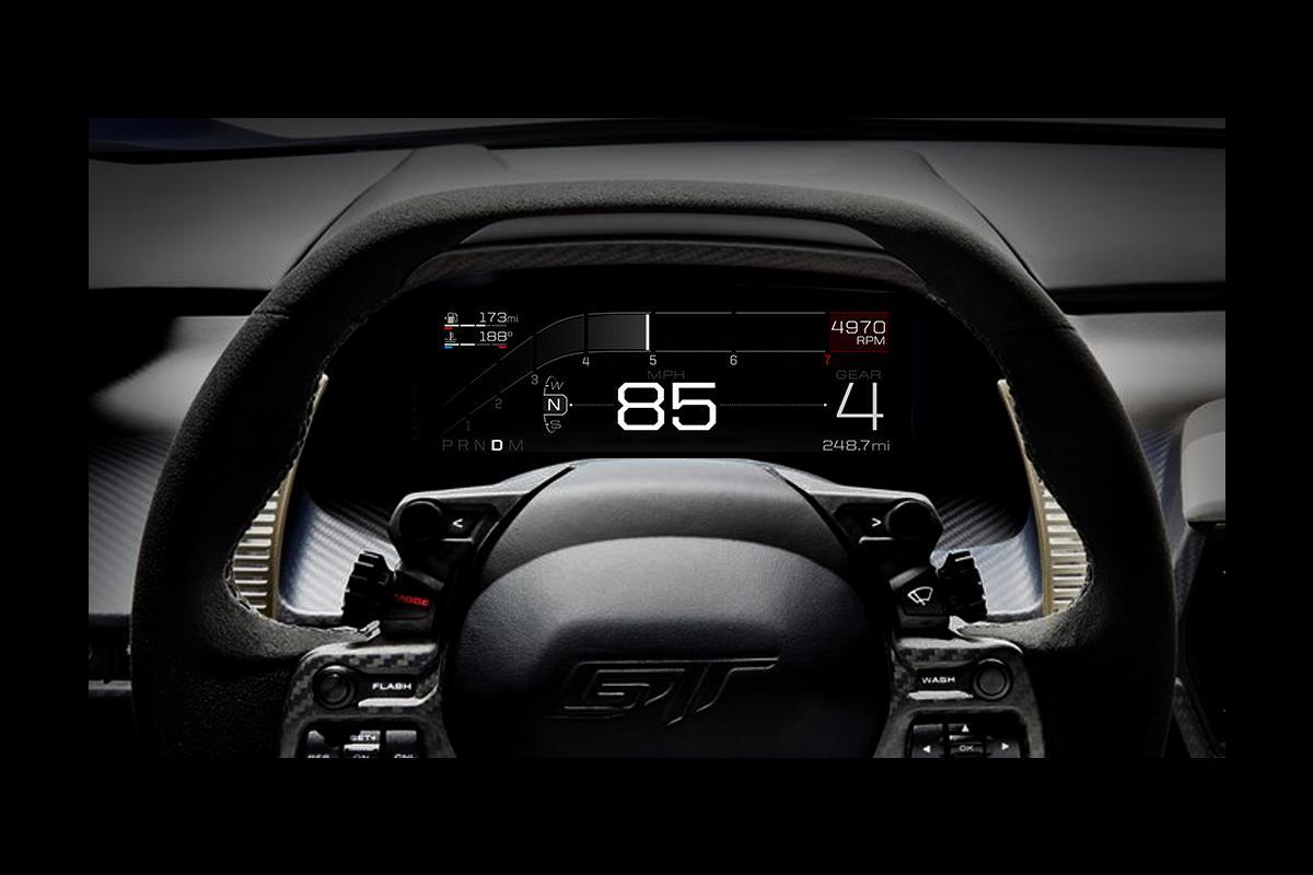 Ford GT: il display digitale adattivo è l'orizzonte sul futuro visto dall'interno di una supercar - image 022217-000206095 on http://auto.motori.net