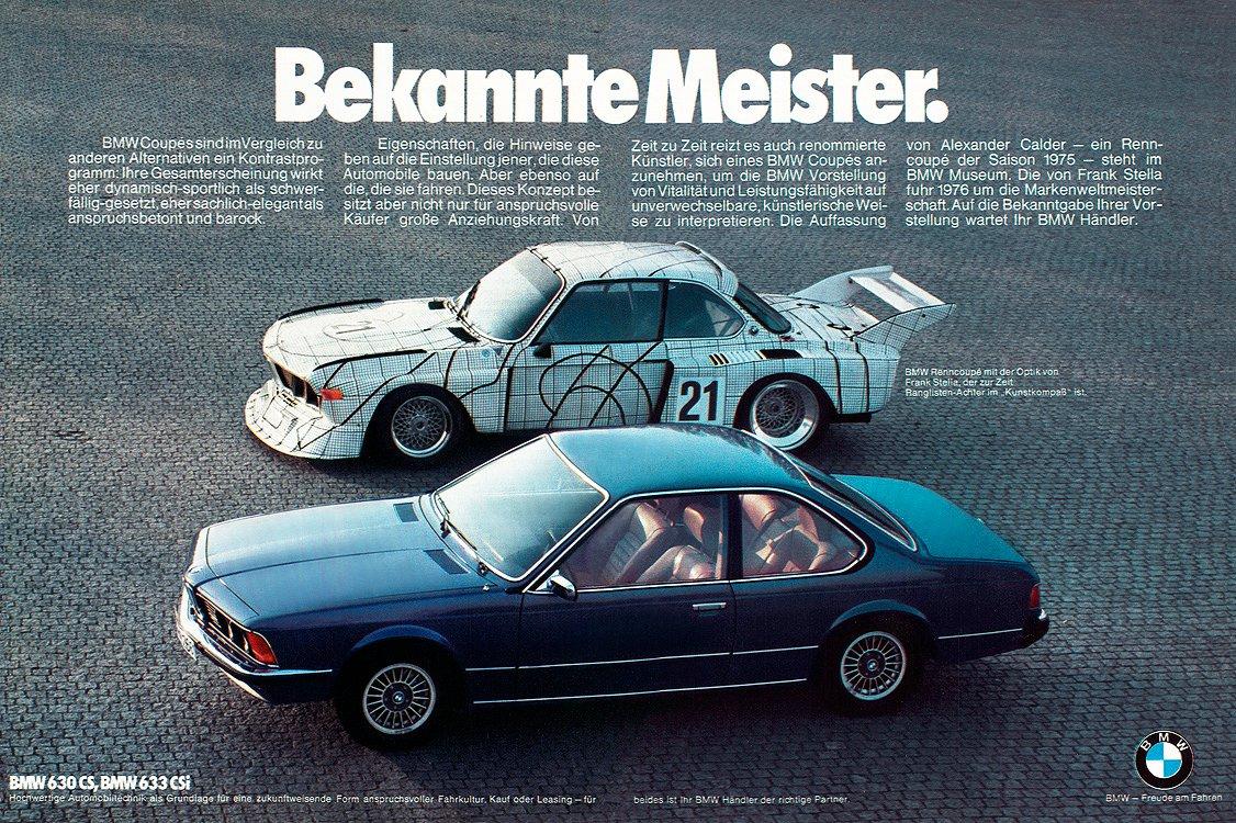 Sarà anche plug-in la nuova BMW Serie 5 - image bmw_csl_art_car_frank_stella_and_633si on http://auto.motori.net