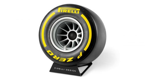 Tecnologia del suono nella Wind Tunnel Tyre - image Pirelli-WTT-speaker-Yellow-500x280 on http://auto.motori.net
