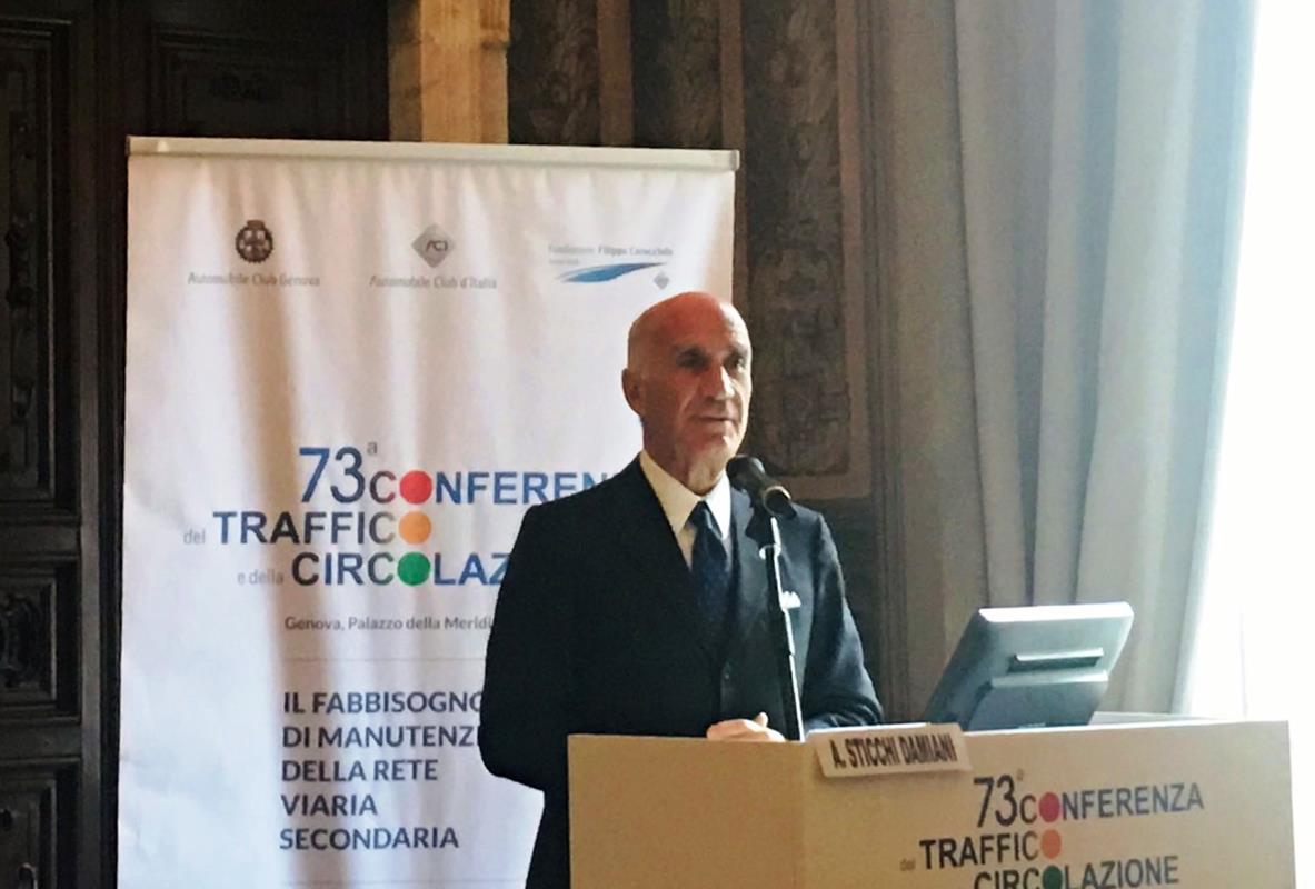 5,6 miliardi di Euro in più ogni anno per le strade provinciali - image Sticchi-Damiani-alla-73°-Conferenza-del-Traffico-e-della-Circolazione on http://auto.motori.net