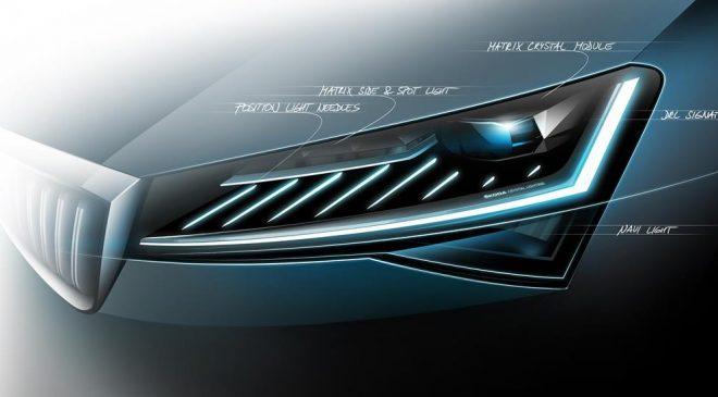 La Lighting Technology debutta sulla nuova Škoda Superb - image SKODA-Crystal-Lighting-660x365 on http://auto.motori.net
