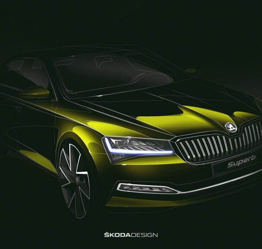 Il nuovo SUV compatto SKODA KAROQ - image superb_design-sketch-840x797 on http://auto.motori.net