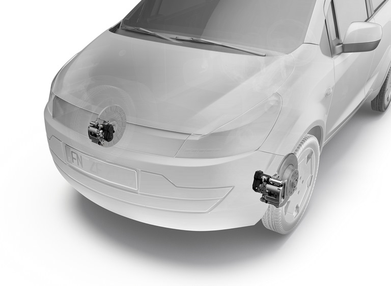 La nuova VW e-up! - l'up-grade - image ZF-EPB on http://auto.motori.net