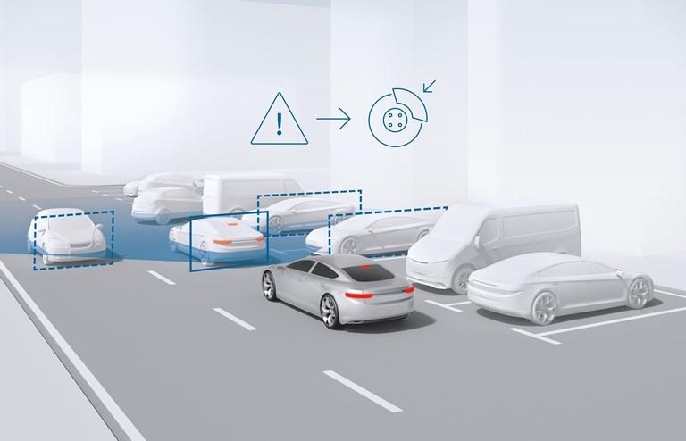 Range Rover Evoque e Discovery Sport una mobilità urbana integrate - image sistema-di-assistenza-alla-frenata on http://auto.motori.net