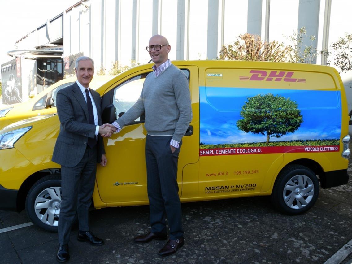 Nissan e DHL Express aprono la strada della mobilità commerciale a