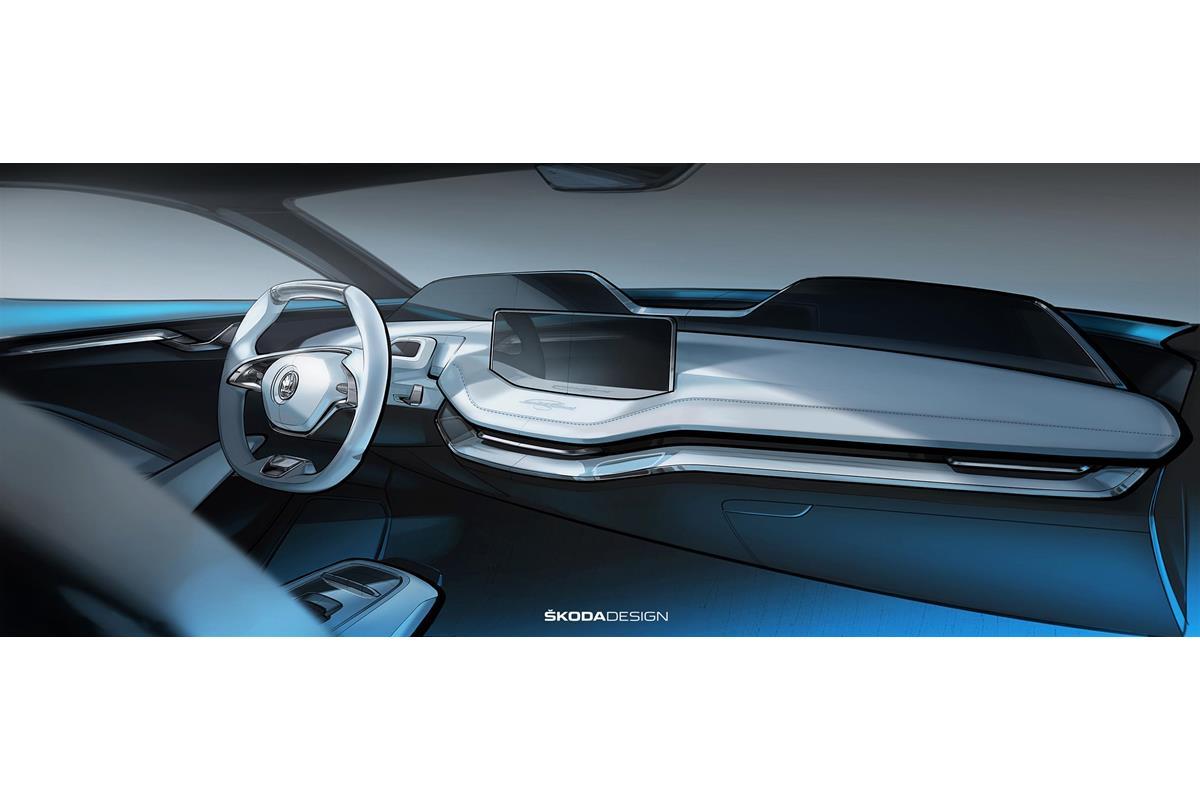 Skoda Vision E: Interni futuristici per la concept elettrica - image 022342-000206622 on https://motori.net
