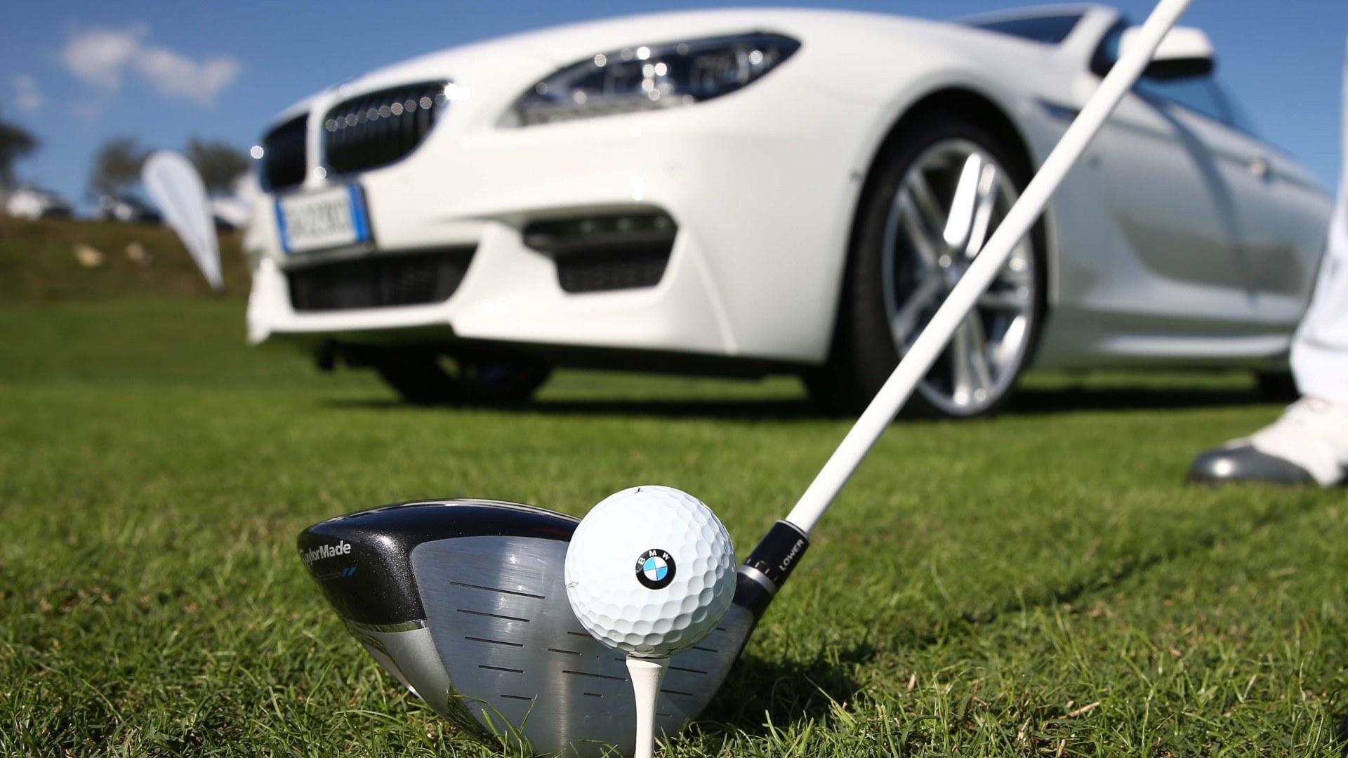 Golf Open d'Italia. BMW Serie 6 Gran Turismo al centro del green
