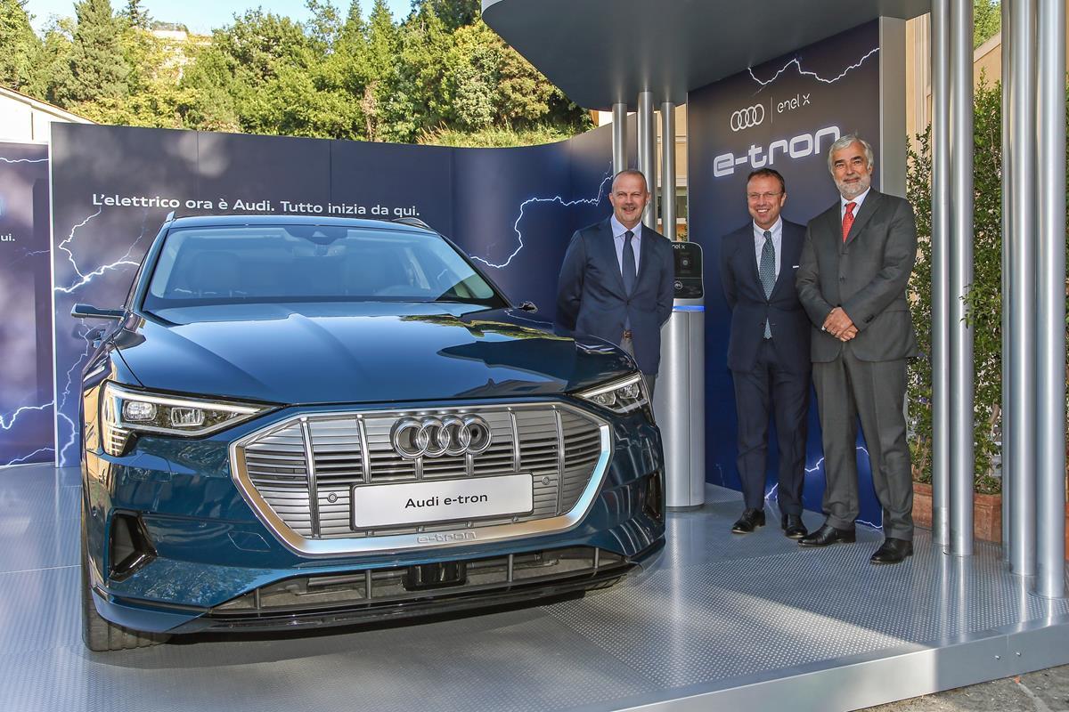 Audi con Enel-X per accedere all'esperienza e-tron - image AP7J1182 on https://motori.net