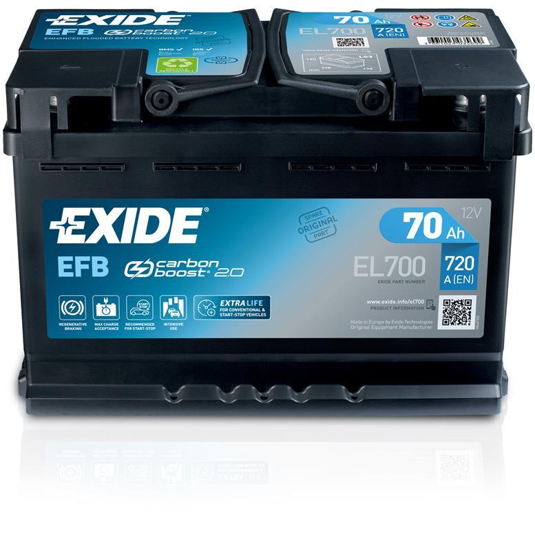 Manutenzione invernale: la batteria - image Exide_EFB_01_2019_reflection on https://motori.net