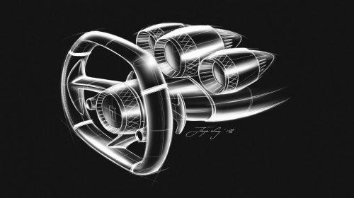 Torna la De Tomaso - image P72-steering-wheel-cluster-sketch-c-500x280 on https://motori.net