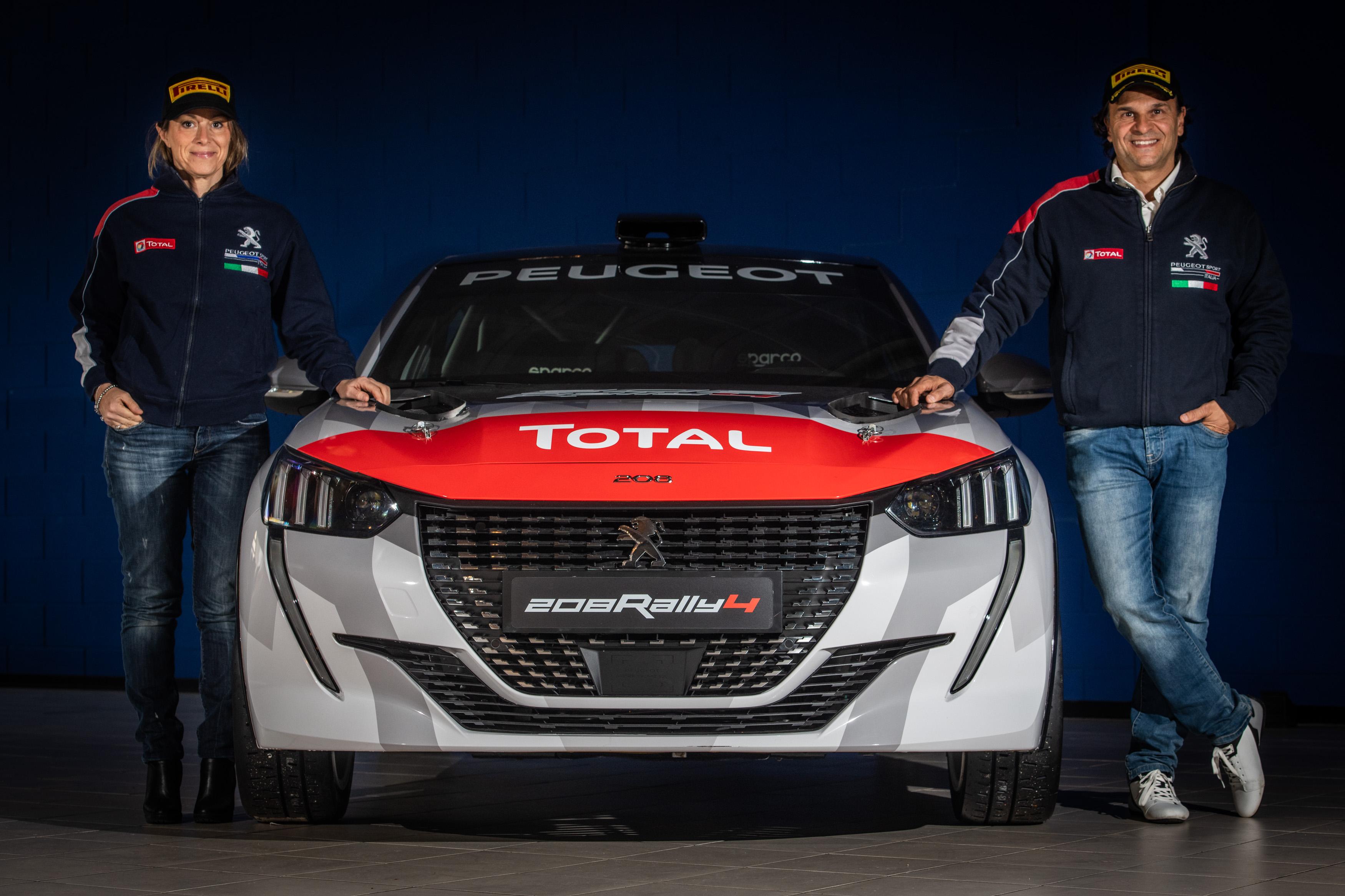 Paolo Andreucci e Anna Andreussi di nuovo nel Tricolore - image Peugeot-208-Rally-4-con-Paolo-e-Anna on https://motori.net