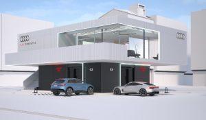 "Progetto pilota Audi per ""lounge"" di ricarica rapida"