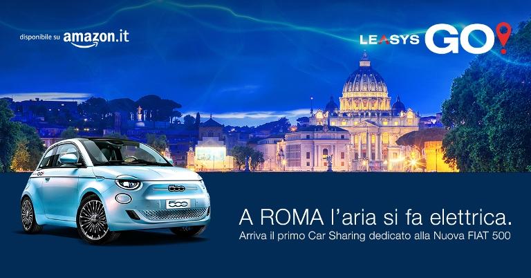 200 milioni di chilometri con vetture elettriche - image LeasysGO-Roma on https://motori.net