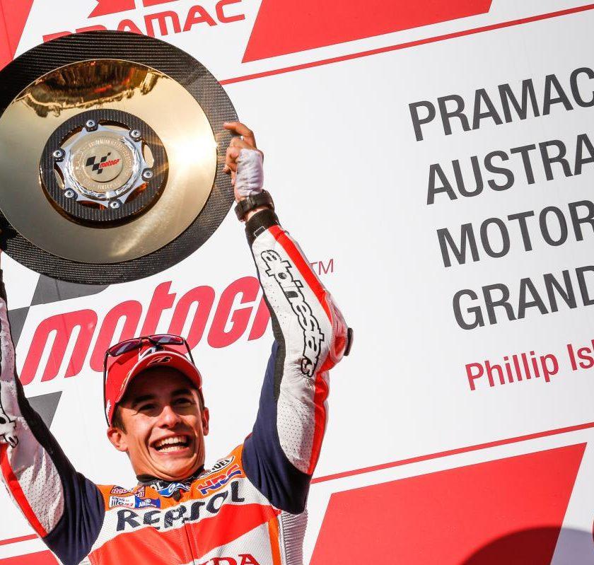 MotoGP Philip Island: vince Marquez che va a +33, Rossi 2°, Dovizioso 13°